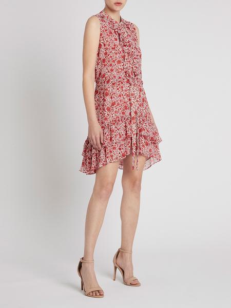 Misa Los Angeles Eba Dress - Rust Animal Floral