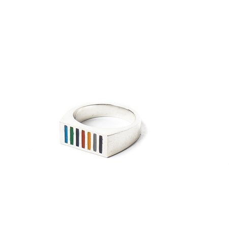 MAPLE PRISM RESIN RING - SILVER