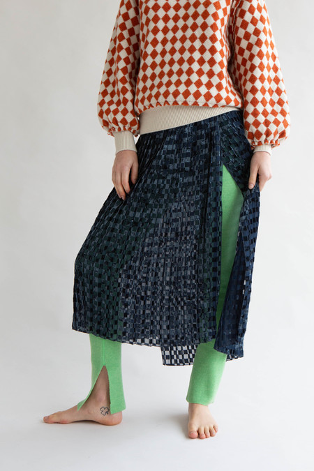 WOLF & GYPSY VINTAGE Standalone Pleated Wrap Skirt