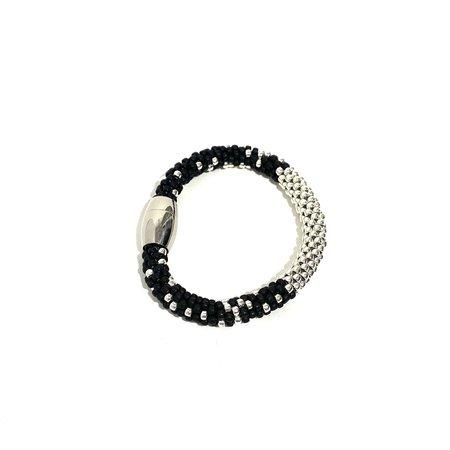 Jill Cribbin Stardust Bracelet - Black/Silver