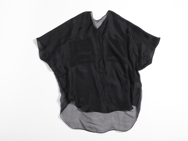 Berenik Oversized Pocket Top - Black