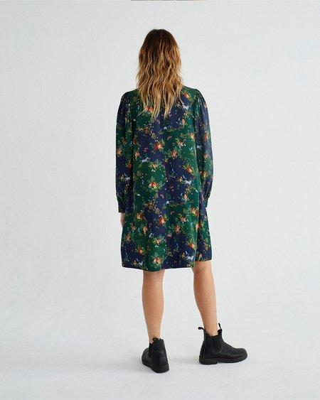 Thinking Mu W Flora DRESS - Paradise Print