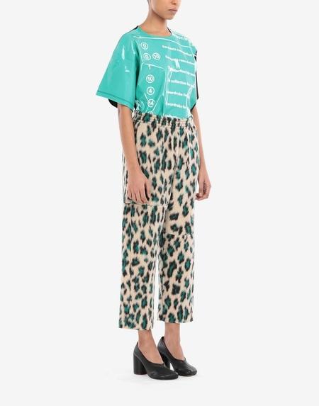 MM6 Maison Margiela Jacquard Cropped Pants - Leopard