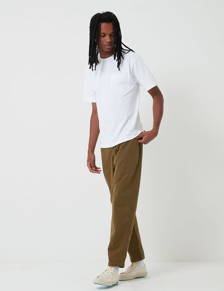 Bhode Relaxed, Cropped Leg Everyday Pant - Military Olive