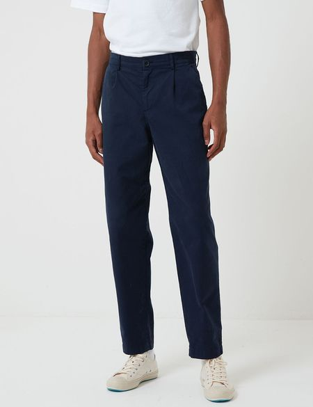 Bhode Relaxed, Cropped Leg Everyday Pant - Night Sky Blue