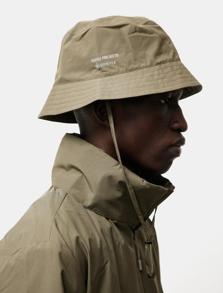 Norse Projects Goretex Bucket Hat - Shale Stone