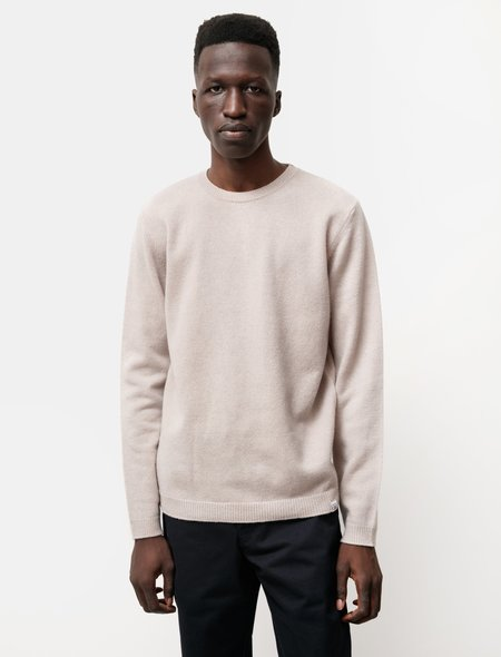 Norse Projects Sigfred Lambswool Sweater - Utility Khaki