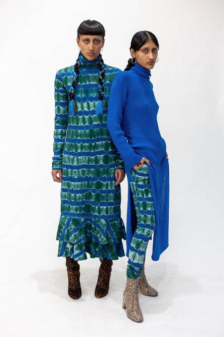 Abacaxi Peacock Turtleneck Dress