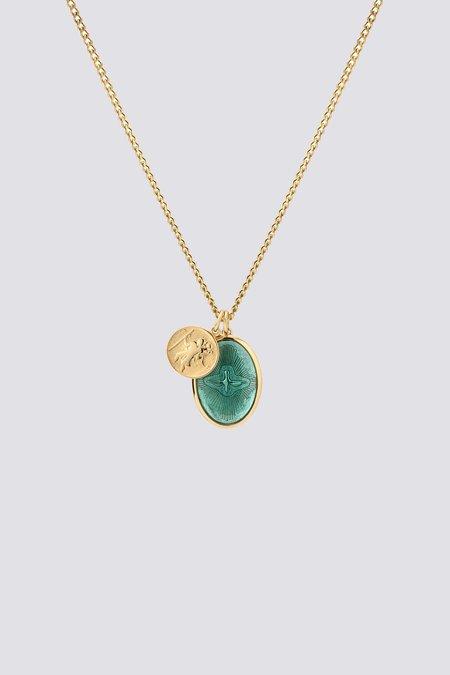 Miansai Mini Dove Pendant - Gold/Teal