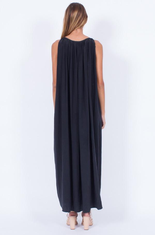 BLACK SILK LONG DRESS (ONE SIZE)