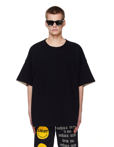 Ziggy Chen Raw Crewneck T-shirt - BLACK