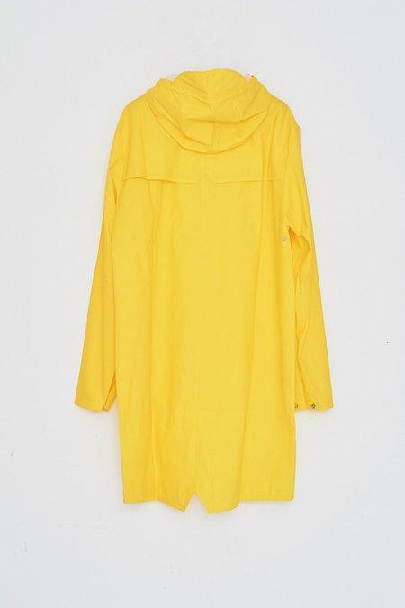 Unisex Rains Hooded Rain Long Jacket - Yellow