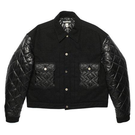 Unisex Monitaly Second Model Jacket - Black Denim