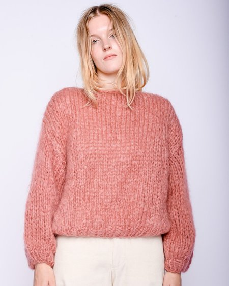 Maiami Mohair big Sweater - dusty rose