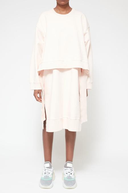 MM6 Maison Margiela Layered Sweatshirt Dress - Blush