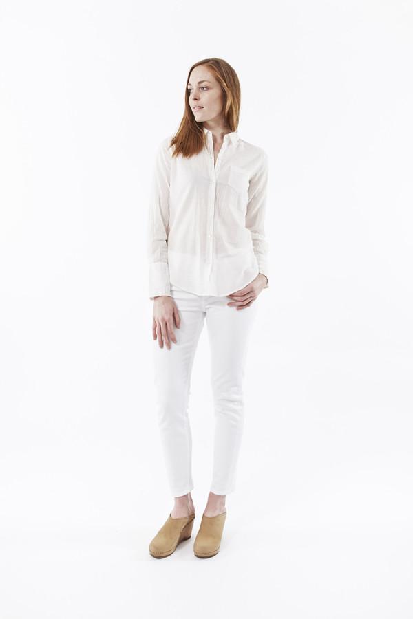 Nili Lotan Cotton Voile Shirt in White