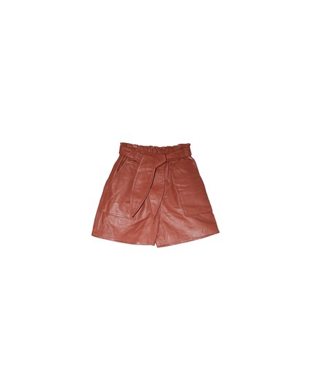 Munthe Meanwhile Leather Short - SIENNA