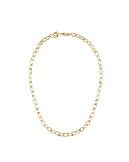 Machete Oval Link Chain Necklace - Gold