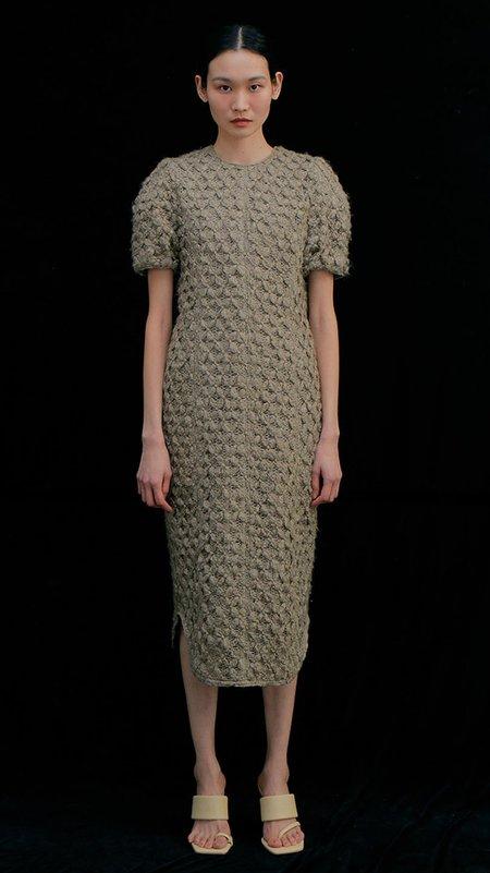 Wnderkammer Round Knitted Dress - Khaki