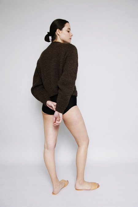 OUND HAND KNITTED MOLLE WOOL JUMPER - EARTH