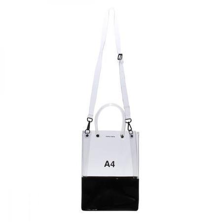 nana-nana A4 Bag - Clear & Black Opaque