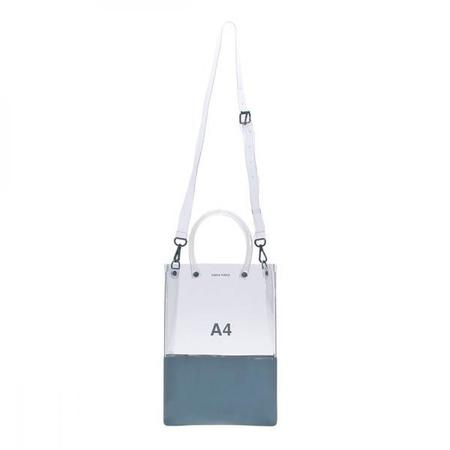 nana-nana A4 Bag - Clear & Blue Grey