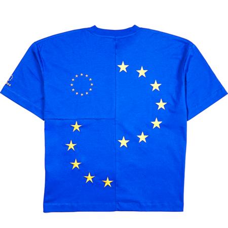 etudes Spirit Cut-Up Europa T-SHIRT - BLUE
