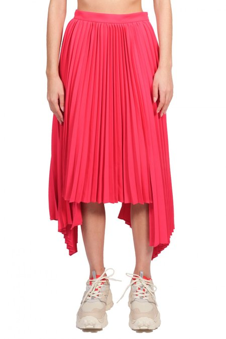 Juun.j Asymmetric Hem Pleated Skirt - Pink