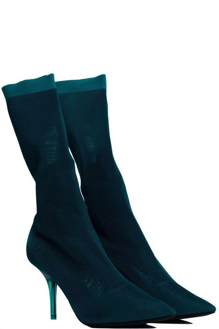 YEEZY Season 7 Knit Ankle Boot - Turquoise