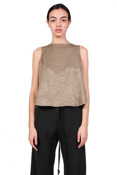 Song for the Mute Darted Top - Taupe