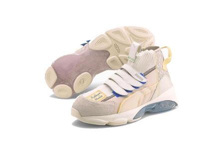 Puma X KIDSUPER CELL Dome Sock Sneakers - Whisper White/Silver Gray