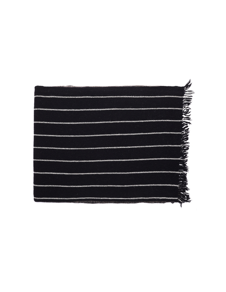 Ziggy Chen Mixed Scarf - Black/Grey