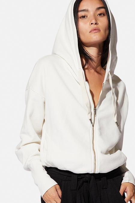 NSF Kaia Zip Hoodie - Soft White