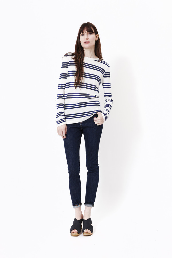 JENNI KAYNE Triple Striped Long Sleeve
