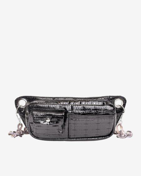 HVISK BRILLAY CROCO bag - JET BLACK