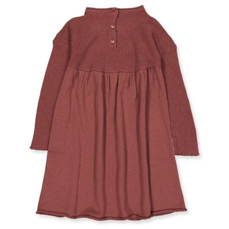 Kids Marmar Copenhagen Danna Dress - Dark Brick