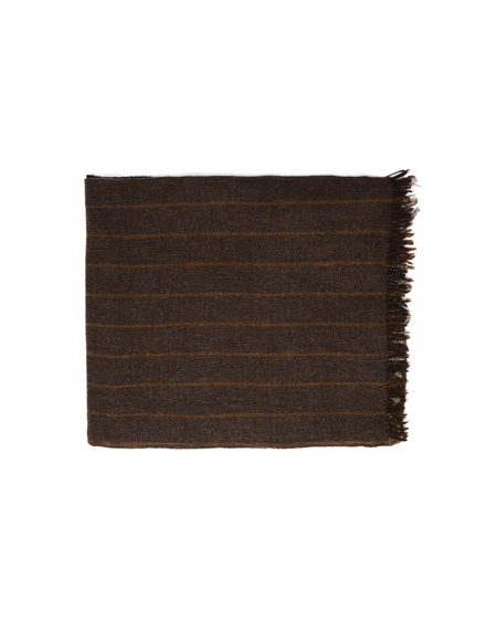 Ziggy Chen Wool Double Stripped Scarf