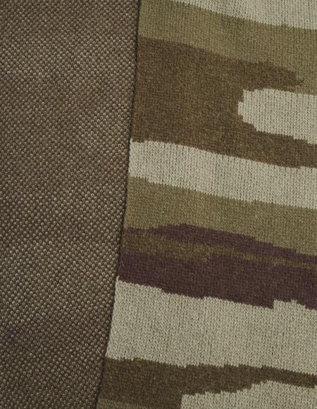 Greg Lauren Paul Shark Long Wool Scarf - Camo