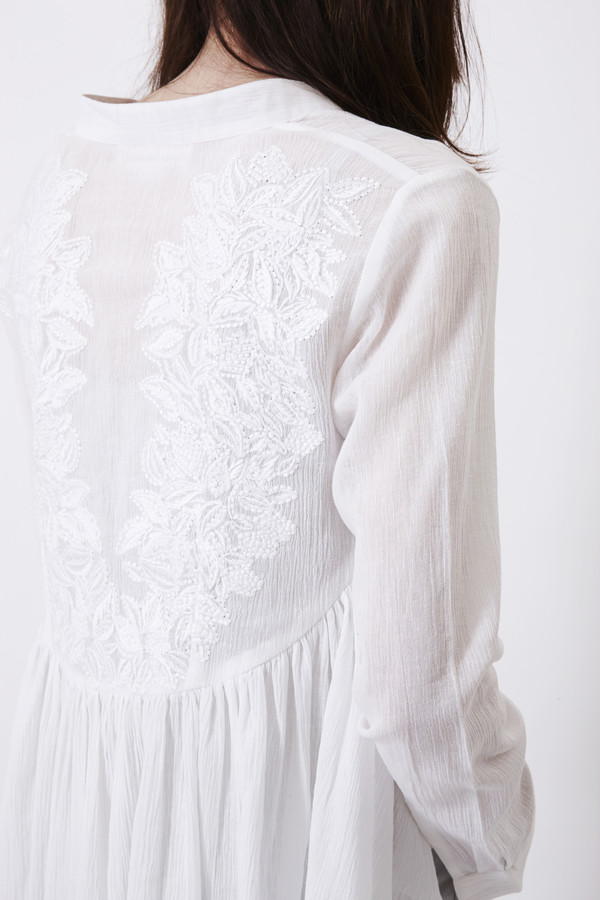 Mara Hoffman Wheat Embroidered Blouse