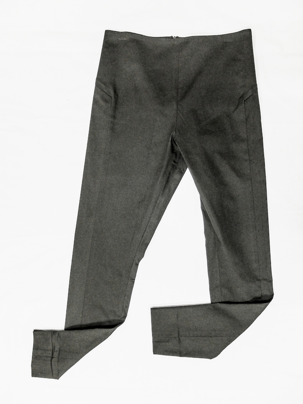 Berenik Skinny High Waist Stretch Trousers, Dark Gray
