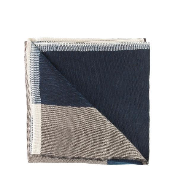 Hoss Intropia Navy Stripe Scarf