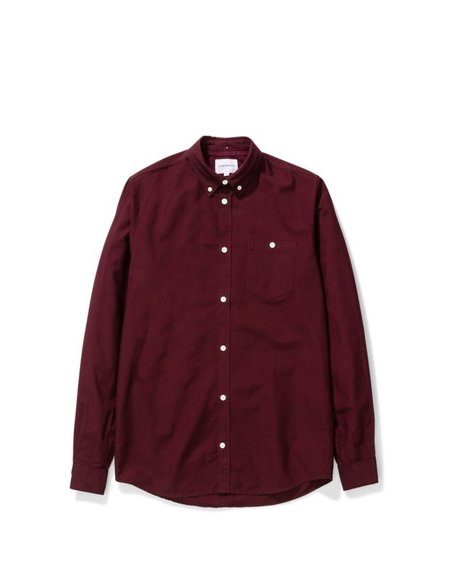 Norse Projects Anton Oxford Shirt - Mulberry Red