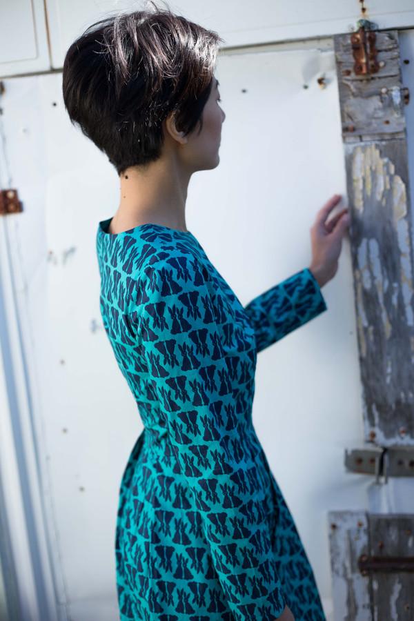 Birds of North America Topaz Dress (Turquoise)