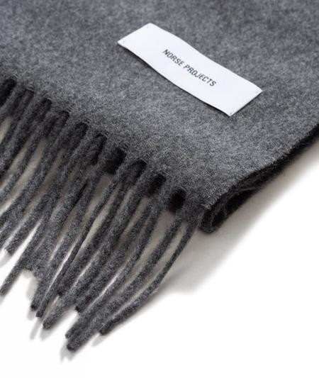 Norse Projects Lambswool Scarf - Charcoal