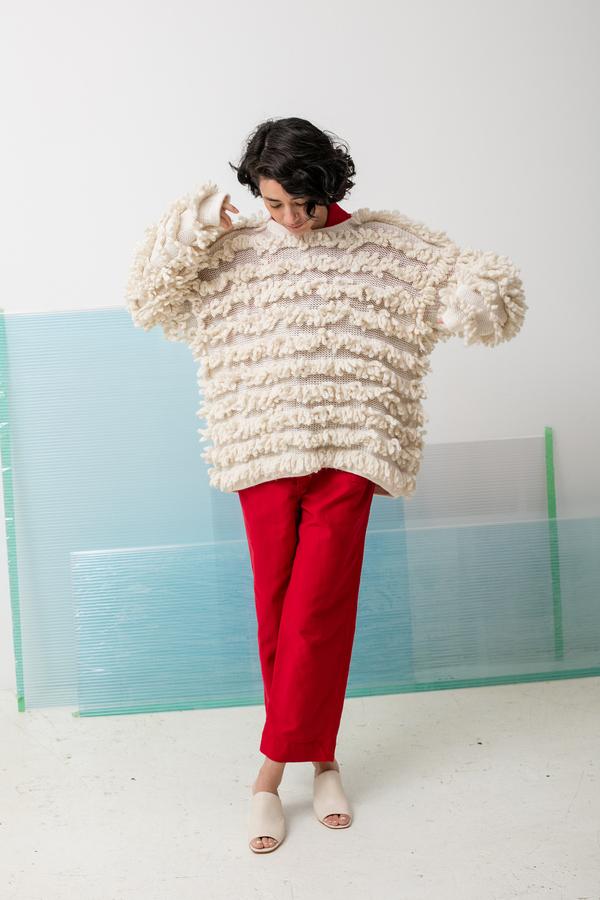Delfina Balda Ro Knit - off white