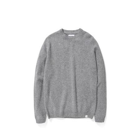Norse Projects Sigfred Lambswool Sweater - Light Grey Melange