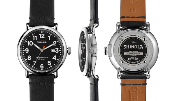 Shinola Detroit - The Runwell 41mm - Black Dial