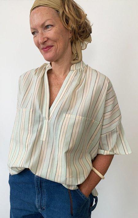 Two Pocket Shirt - Pale Blue Stripe