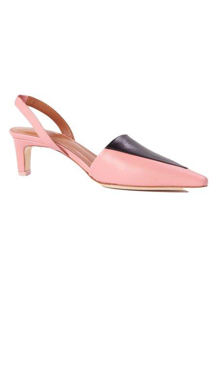 Rejina Pyo Carina Slingback Heel - Pink Leather