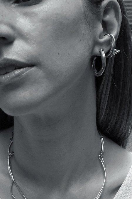 Faris Tangle Hoop - Sterling Silver